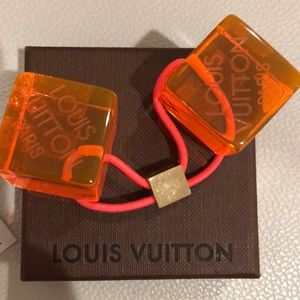 Authentic Louis Vuitton hair cubes with box
